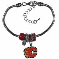 Calgary Flames Euro Bead Bracelet