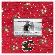 """Calgary Flames  Floral 10"""" x 10"""" Picture Frame"""