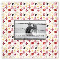 """Calgary Flames  Floral Pattern 10"""" x 10"""" Picture Frame"""