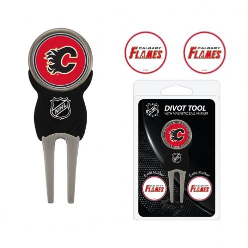 Calgary Flames Golf Divot Tool Pack