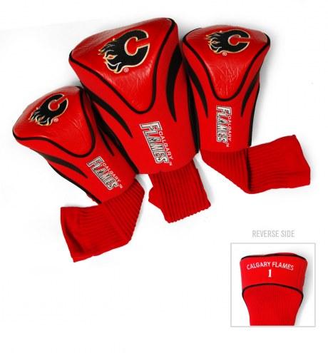 Calgary Flames Golf Headcovers - 3 Pack
