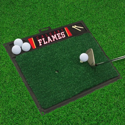 Calgary Flames Golf Hitting Mat