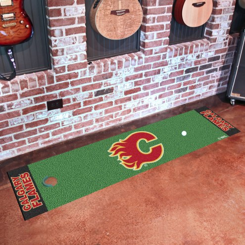 Calgary Flames Golf Putting Green Mat