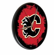 Calgary Flames Digitally Printed Wood Clock