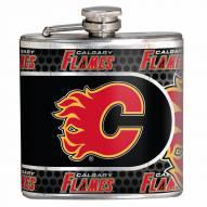 Calgary Flames Hi-Def Stainless Steel Flask