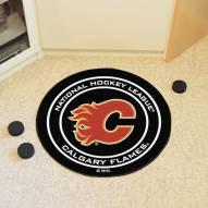 Calgary Flames Hockey Puck Mat