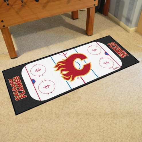 Calgary Flames Hockey Rink Runner Mat