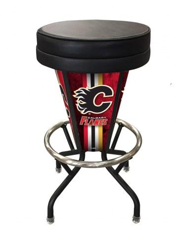 Calgary Flames Indoor/Outdoor Lighted Bar Stool