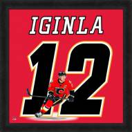 Calgary Flames Jarome Iginla Uniframe Framed Jersey Photo