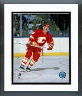 Calgary Flames Joe Mullen 1989 Action Framed Photo