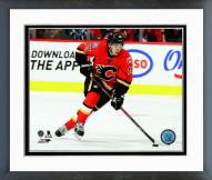 Calgary Flames Johnny Gaudreau Action Framed Photo