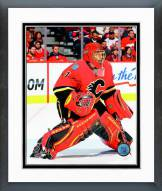 Calgary Flames Jonas Hiller Action Framed Photo