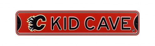 Calgary Flames Kid Cave Street Sign