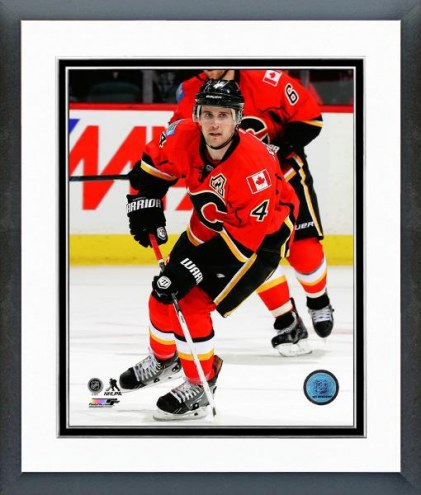 Calgary Flames Kris Russell Action Framed Photo
