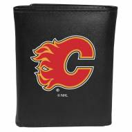 Calgary Flames Large Logo Leather Tri-fold Wallet