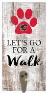 Calgary Flames Leash Holder Sign