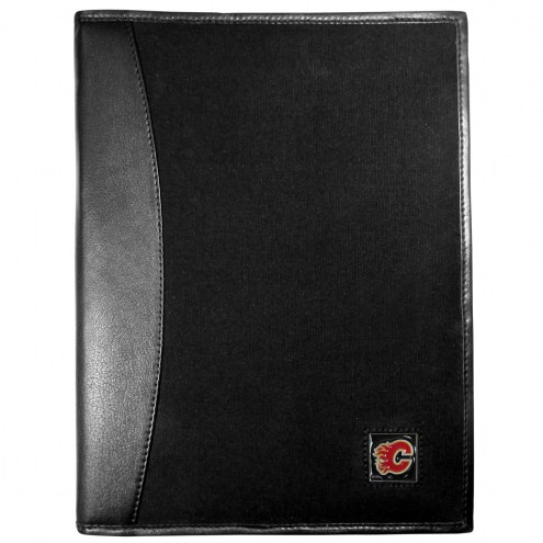 Calgary Flames Leather and Canvas Padfolio