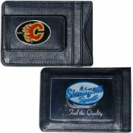 Calgary Flames Leather Cash & Cardholder