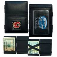 Calgary Flames Leather Jacob's Ladder Wallet