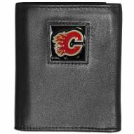 Calgary Flames Leather Tri-fold Wallet