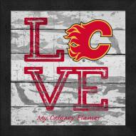 Calgary Flames Love My Team Square Wall Decor