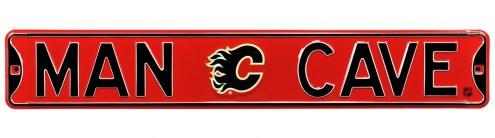 Calgary Flames Man Cave Street Sign