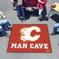 Calgary Flames Man Cave Tailgate Mat