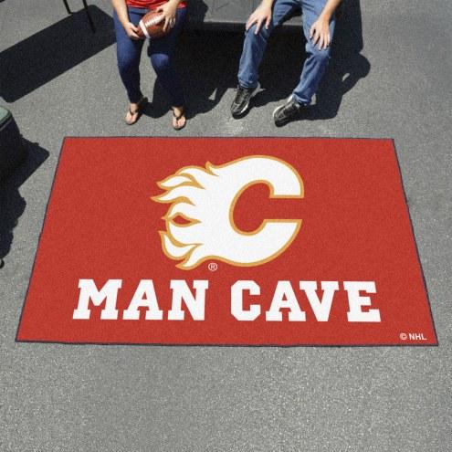 Calgary Flames Man Cave Ulti-Mat Rug