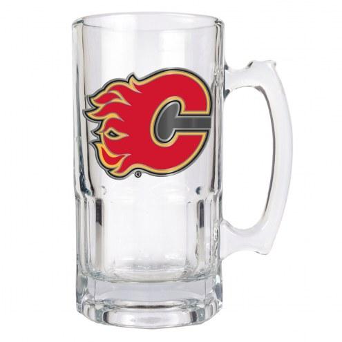 Calgary Flames NHL 1 Liter Glass Macho Mug