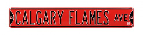 Calgary Flames NHL Authentic Street Sign