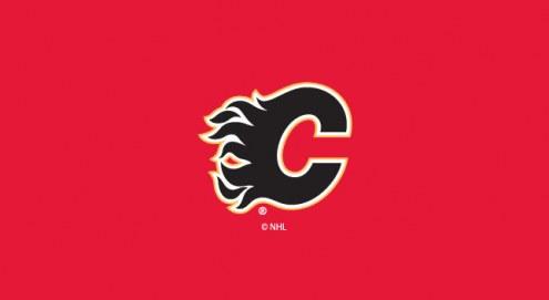 Calgary Flames NHL Team Logo Billiard Cloth