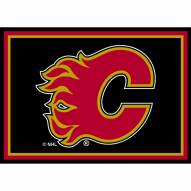 Calgary Flames NHL Team Spirit Area Rug