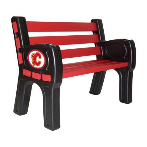 Calgary Flames Park Bench