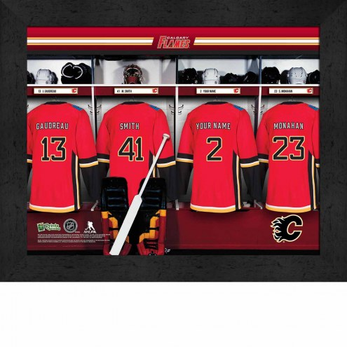 Calgary Flames Personalized 11 x 14 Framed Photograph