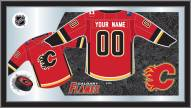Calgary Flames Personalized Jersey Mirror