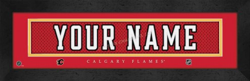 Calgary Flames Personalized Stitched Jersey Print
