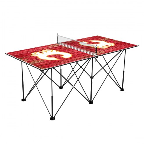 Calgary Flames Pop Up 6' Ping Pong Table