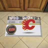 Calgary Flames Puck Scraper Door Mat