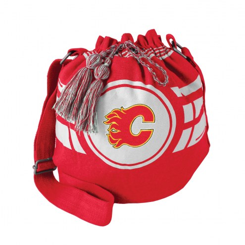 Calgary Flames Ripple Drawstring Bucket Bag