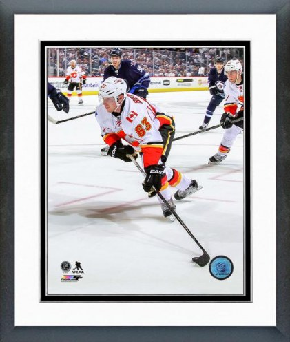 Calgary Flames Sam Bennett Action Framed Photo