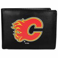 Calgary Flames Large Logo Bi-fold Wallet