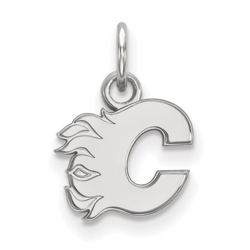 Calgary Flames Sterling Silver Extra Small Pendant