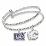 Calgary Flames Support HFC Crystal Bracelet