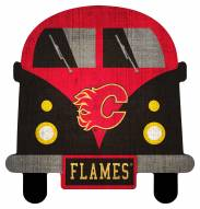 Calgary Flames Team Bus Sign