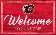 Calgary Flames Team Color Welcome Sign