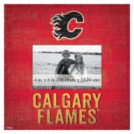 """Calgary Flames Team Name 10"""" x 10"""" Picture Frame"""
