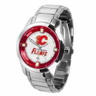 Calgary Flames Titan Steel Men's Watch