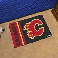 Calgary Flames Uniform Inspired Starter Rug