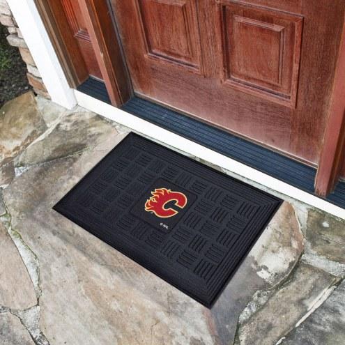 Calgary Flames Vinyl Door Mat
