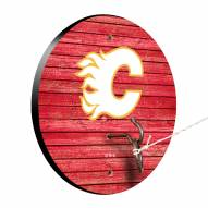 Calgary Flames Weathered Design Hook & Ring Game